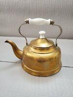 Vintage Copper Brass Tea Kettle 6.5'' T