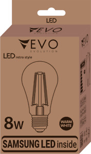 5x LED Edison Lampe E27 8W Retro Filament Warm 2700K A+ Loft Edisonlampe