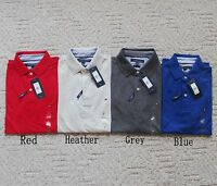 NWT New Men's Tommy Hilfiger Slim Fit Short Sleeve Polo Shirt top Solid Colors