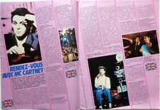 PAUL McCARTNEY => 2 pages 1985 french CLIPPING / COUPURE DE PRESSE