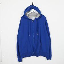Vintage CHAMPION Small Logo Zip Up Hoodie Sweatshirt Blue XL