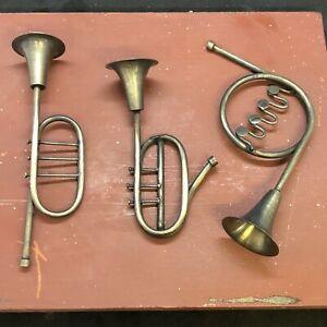 Trio Trumpets Tool Pageant Nativity Neapolitan Scene Oriental Krippe Great