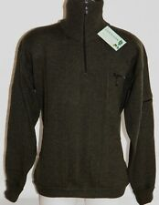 "Peter Scott Lambswool High Zip Neck winter Sweater 44"" 4 Pockets + hand warmers"