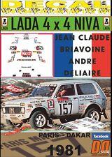 DECAL LADA NIVA JEAN-CLAUDE BRIAVOINE PARIS DAKAR 1981 (04)