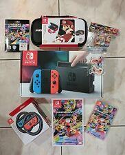 Nintendo Switch Neon Console Mario Kart 8 Deluxe/Wheel/Case/Cube Ultimate Bundle
