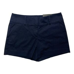 Ann Taylor Women 6 Modern Fit City Shorts Blue Mid Rise