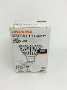 SYLVANIA Ultra LED Glass MR16 Lamps 6W, 3000K Warm White 25,000 Hours Dimmable