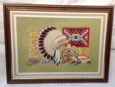 Native American Style  Framed Picture Vintage American