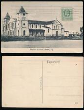 FIJI 1912 PPC REWA NAILILILI CHURCH + CONTINUOUS MACHINE CANCEL SUVA