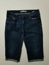 """LEVI'S CAPRIS Cropped Rolled Cuff Jeans SZ 12 (32""""waist measured)"""