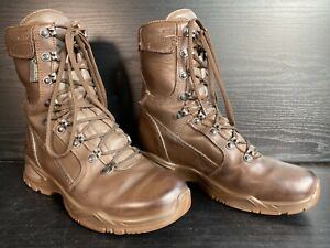 British Army Issued YDS Swiss Temperature Brown GORETEX Leather Boots -Size UK 4