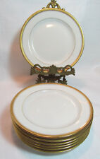 Vignaud Limoges France Wright Tyndale Van Roden Eight (8) Bread & Butter Plates