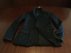 NWT POLO Ralph Lauren Diamond Quilted Wool Blazer Navy Blue Jacket Men's S