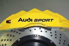 Audi Sport Brake Caliper Hi Temp Vinyl Decal Sticker Set Of 8 (ANY COLOR)