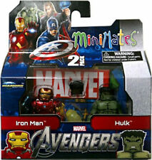 Marvel Minimates Series 45 Avengers Movie Mini Figure 2Pack Iron Man Hulk