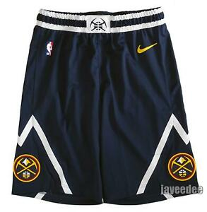 NIKE 2019/20 DENVER NUGGETS NBA AUTHENTIC SHORTS TEAM ISSUE PE AA5689-419 40 +1