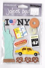 EMBOSSED STICKERS NEW YORK CITY NYC STATUE OF LIBERTY BROADWAY TAXI SUBWAY MAPS