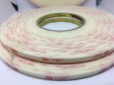 3M 4932 VHB Acrylic Foam Tape White 6mm x 33m x 0.64mm long new