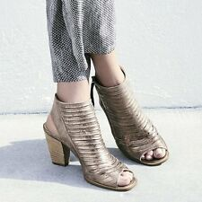 Paul Green Cayanne Metallic Leather Peep Toe Sandal Shoes Size 9.5 US $349.00
