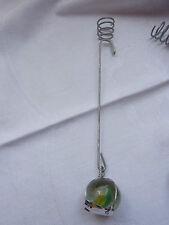 Christbaumschmuck Balancekerzenhalter Pendelkerzenhalter Silber Murmel Glas Bunt