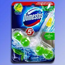 Domestos puissance 5 + Bloc Thé Vert & Citrons Nettoyeur Wc Parfum Frais 55g