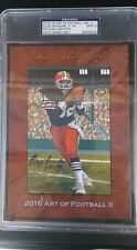 2016 HA  Art of Football Goal Line OZZIE NEWSOME BROWNS HOF PSA 9 AUTO 21/38