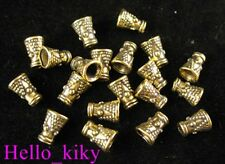 200pcs Antiqued gold plt dotted cone spacer beads A422