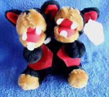 *1802*  Tasile - twin Tasmanian Devils - plush - 16cm - tag