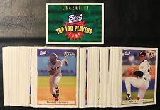 1995 Classic Best Baseball Complete Top 100 Card Set Guerrero, Nomar, Konerko