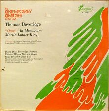 "SEALED Turnabout LP THOMAS BEVERIDGE ""Once"" In Memoriam Martin Luther King"