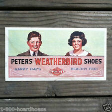 Vintage Original 1940s PETERS WEATHERBIRD Advertising Shoe Blotter HAPPY DAYS