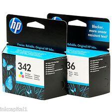 HP No 336 & No 342 Original OEM Inkjet Cartridges For Photosmart C3100