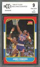 1986-87 fleer #29 JAMES EDWARDS phoenix suns BGS BCCG 9