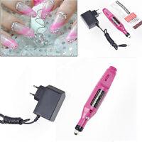 Pen Shape Electric Nail Art Salon Manicure Pedicure Drill File Polish Tool Set C