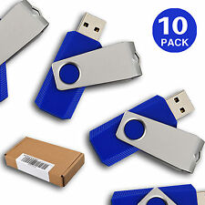 2GB 10 Pack USB 2.0 Flash Drives Memory Sticks Flash Pen Drives Thumb Storage