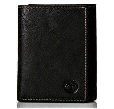 Timberland Men's Premium Genuine Leather Trifolder Wallet Black