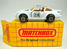 "MATCHBOX superfast Nº 03c porsche turbo blanc ""Boss"" MARRON meuble. top dans Box"