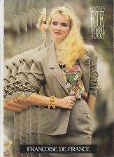 """Brochure publicitaire Vêtements femme """"Françoise de France"""" French Ad 1989"""
