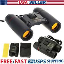 Folding Binoculars Pocket Compact Small 30*60 Telescope Night Vision with Case