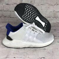 Adidas Originals EQT Support 93/17 Running Shoe White/blue/Black BZ0592 sz4.5