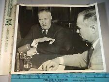 Rare Historical Original VTG 1954 Spruille Braden SIS William E Jenner Photo