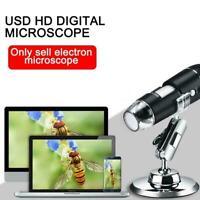 USB Digitalmikroskop Kamera Endoskop 8LED Lupe mit Metallständer F2V7