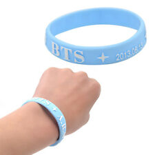 Korea Sänger Tanzer BTS Blau Silikon Armband Andenken Konzert Geschenk Schmuck