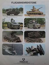7/1979 PUB THOMSON CSF AIR DEFENSE SYSTEM CROTALE SHAHINE WAFFENSYSTEM GERMAN AD