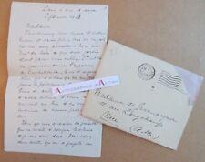 L.A.S 1938 Antoine REDIER écrivain Meudon > Mme de GUERMARQUER Nice Léon POIRIER