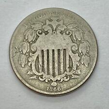 1866 (W/ Rays) Shield Nickel - Circulated *1a41