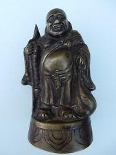 More details for japanese brass figure  old item  145 mm tall base 60 x 80 mm