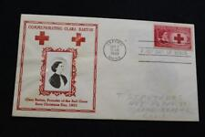 PATRIOTIC COVER 1948 1ST DAY ISSUE CLARA BARTON FOUNDER RED CROSS CROSBY (802)