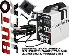 MIG Welder NO Gas Welding Machine 130 AMP 230v Includes Mask Wire Torch & Clamp
