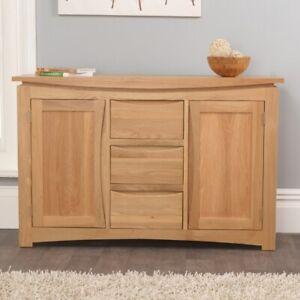 Crescent solid oak dining room furniture medium storage sideboard